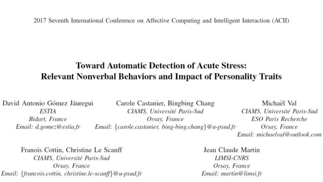 Toward Automatic Detection of Acute Stress: Relevant Nonverbal Behaviors and Impact of Personality Traits