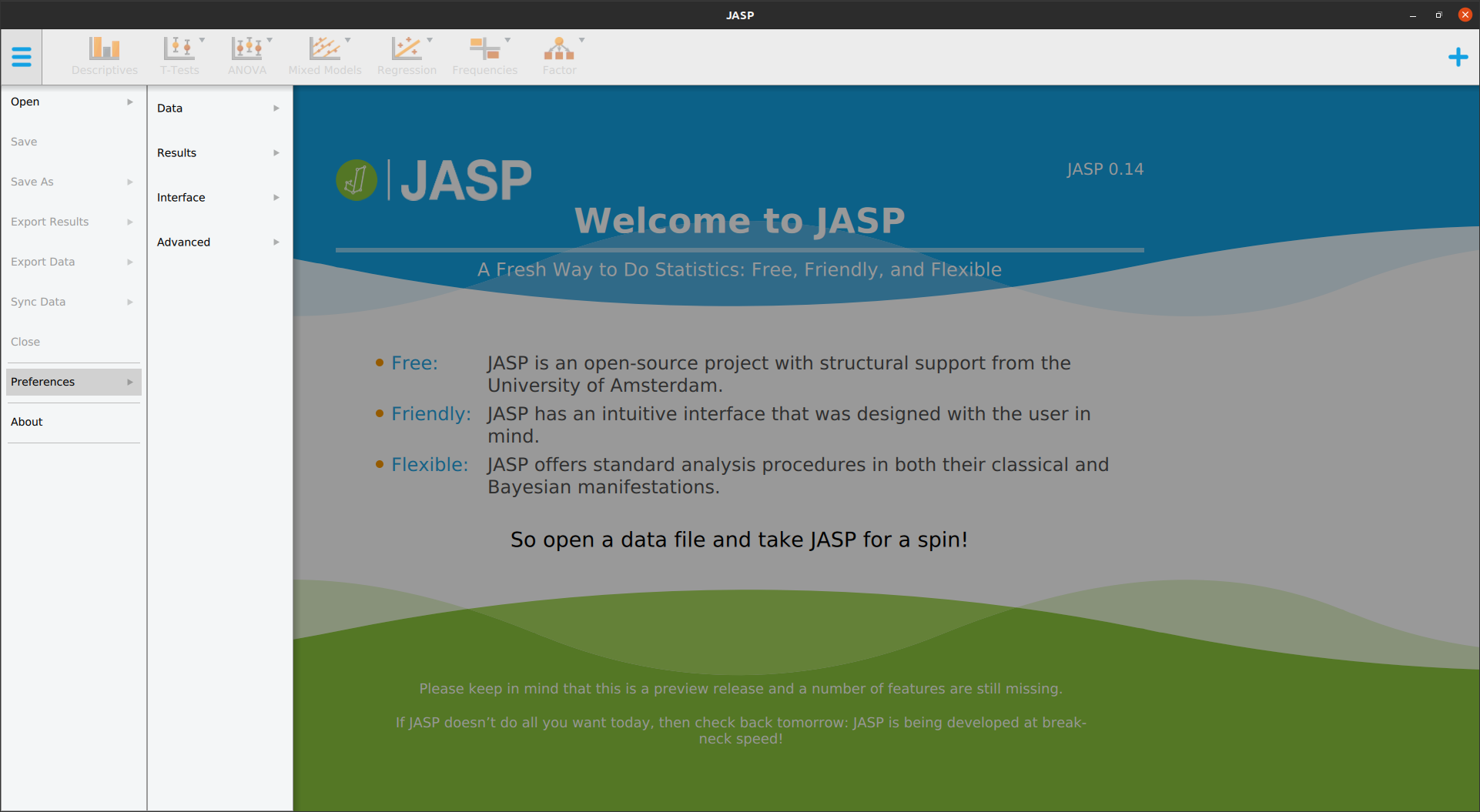JASP une interface encore plus simple que R Commander